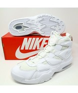 Nike Air Max2 Uptempo 94 Max 2 Triple White Basketball 922934-100 Duke R... - $108.27