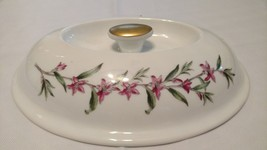 SPODE Stafford Flowers Casserole Baking Dish Lid Only  Oval ENGLAND Porcelain - $18.50