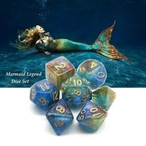 HD Dice Polyhedral Glitter Dice Set Blue Green Red DND Dice Fit Dungeons and Dra image 5