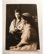 Postcard: Empress Alexandra Feodorovna & Tsesarevich Alexis, Livadia 191... - $1.70