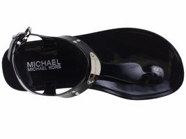 Michael Kors MK Premium Plate Jelly Thong Rubber T-Strap Shoes Sandals image 3