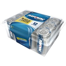 RAYOVAC 813-12PPJ Alkaline Batteries Reclosable Pro Pack (D, 12 pk) - $35.06