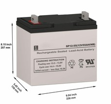 Duracell DURG12-50P Replacement SLA Battery (12V 55AH) - $111.86