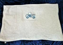 Gymboree Knit Sweater Blanket Boys Newborn Baby Gray/Blue/Red Plaid truck - $26.72