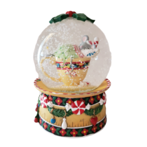 Mary Engelbreit Enesco Music Box Snow Globe Christmas Wish You Merry Chr... - $34.99