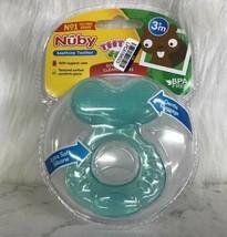 Nuby Soothing Teether Teethe Eez Cleans Gums w Case Ages 3m+ BPA FREE - $7.87