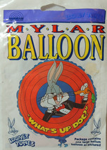 "Vintage 1994 Mylar Helium Balloon Foil Looney Tunes Bugs Bunny ""What's U... - $15.82"
