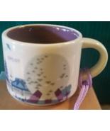 Starbucks Disney Epcot Version 2 You Are Here Mini Mug Ornament NEW IN BOX - $148.99