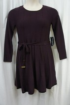 Jessica Howard Sweater Dress Petite Sz PM Aubergine Purple Long Sleeve C... - €44,80 EUR