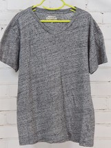 J Crew Crewcuts Slub V-Neck Tee Short Sleeve T-Shirt Gray 100% Cotton Bo... - $18.81