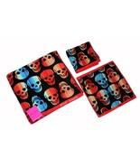 3 Betsey Johnson Skelator Striped Skulls Bath Sheet Hand Towel Washcloth... - $49.99