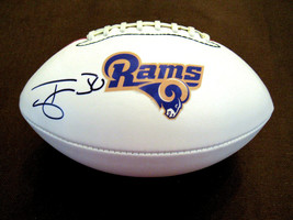 TODD GURLEY LA RAMS ATLANTA FALCONS RB SIGNED AUTO RAMS LOGO FOOTBALL BE... - $118.79