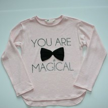 H & M Girls You are Magical Pink Sweater with Black Bow size 8 9 10 - $15.99