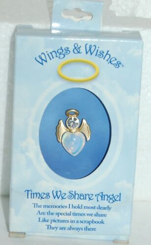 DM Merchandisings Wings Wishes Times Shared Angel Gold Colored Heart Shaped