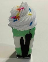 Leprechaun Green Pudding Shot Fake Dessert Fake Decoration Dezicakes - $8.41