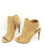 Coach Julie Womens Shoes Size 8.5 B Natural Nude Beige Color Woven Heels... - $46.47