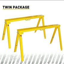 Steel Folding Adjustable Sawhorse Twine package SKU# SH3802 Frontier hea... - $128.78