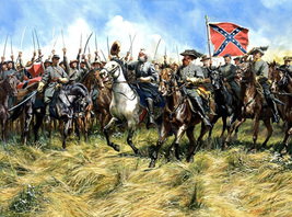 Role War Art oil painting printed on canvas home decor Brandy Station - $12.99+