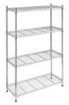 Whitmor  Supreme 4-Tier Shelving Unit Chrome 4 ... - $71.84