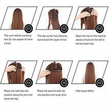 Friskylov 18 Inch Black Hair Extensions Clip in Human Hair 120g Brazilian Virgin image 6