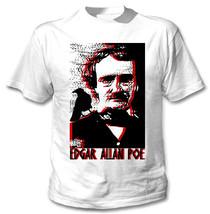 Edgar Allan Poe Poet - New Cotton White Tshirt - $23.16