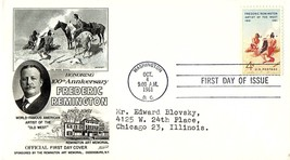 October 4, 1961 First Day of Issue, Fleetwood Cover, Frederic Remington ... - $1.09