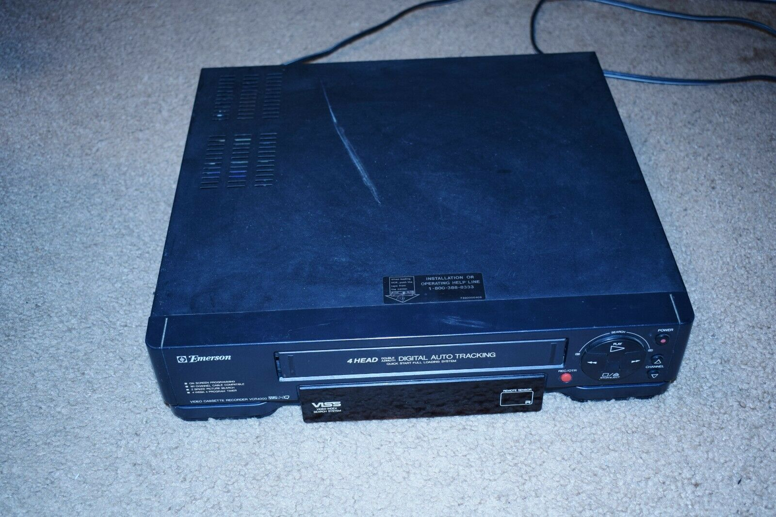 Emerson VHS VCR Player for Parts - powers on - $8.50