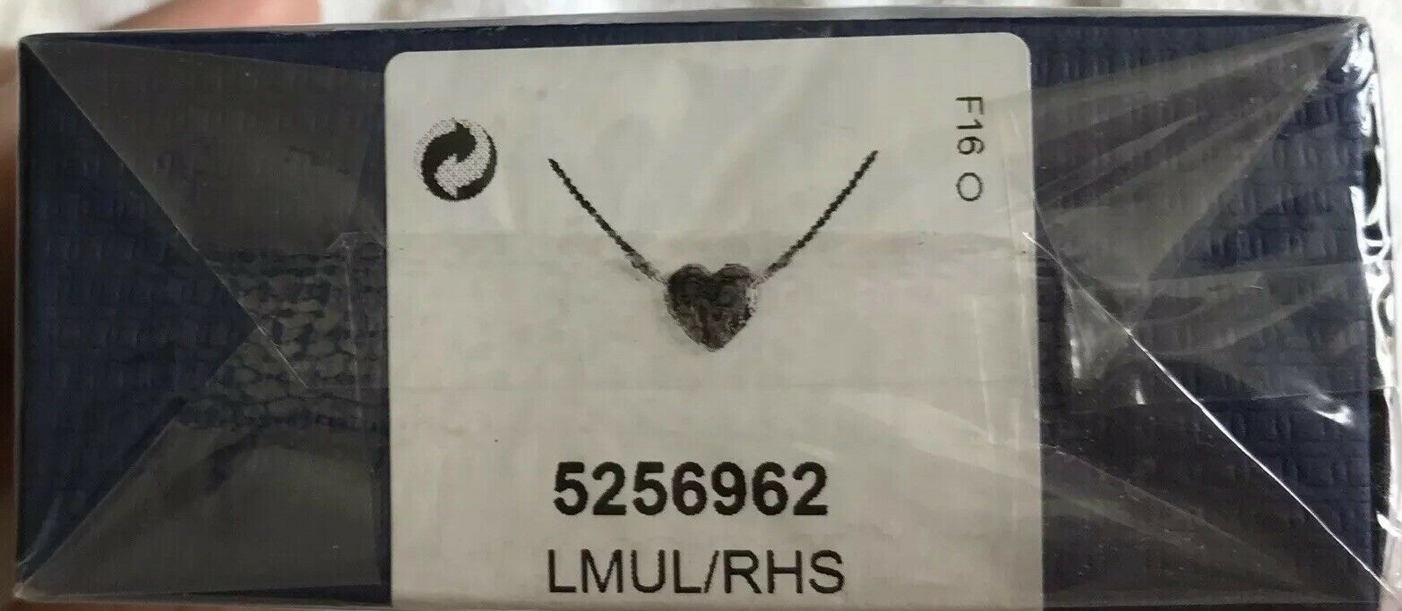 Swarovski Crystal Authentic Pendant Necklace Heart EXPLORE Signed Reversible image 10