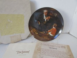 KNOWLES COLLECTOR PLATE THE TYCOON NORMAN ROCKWELL  #9393 1984 COA BOXED... - $4.90