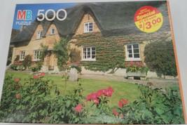 MB Milton Bradley Croxley Puzzle 500 Piece Cottage Avon England - $24.74