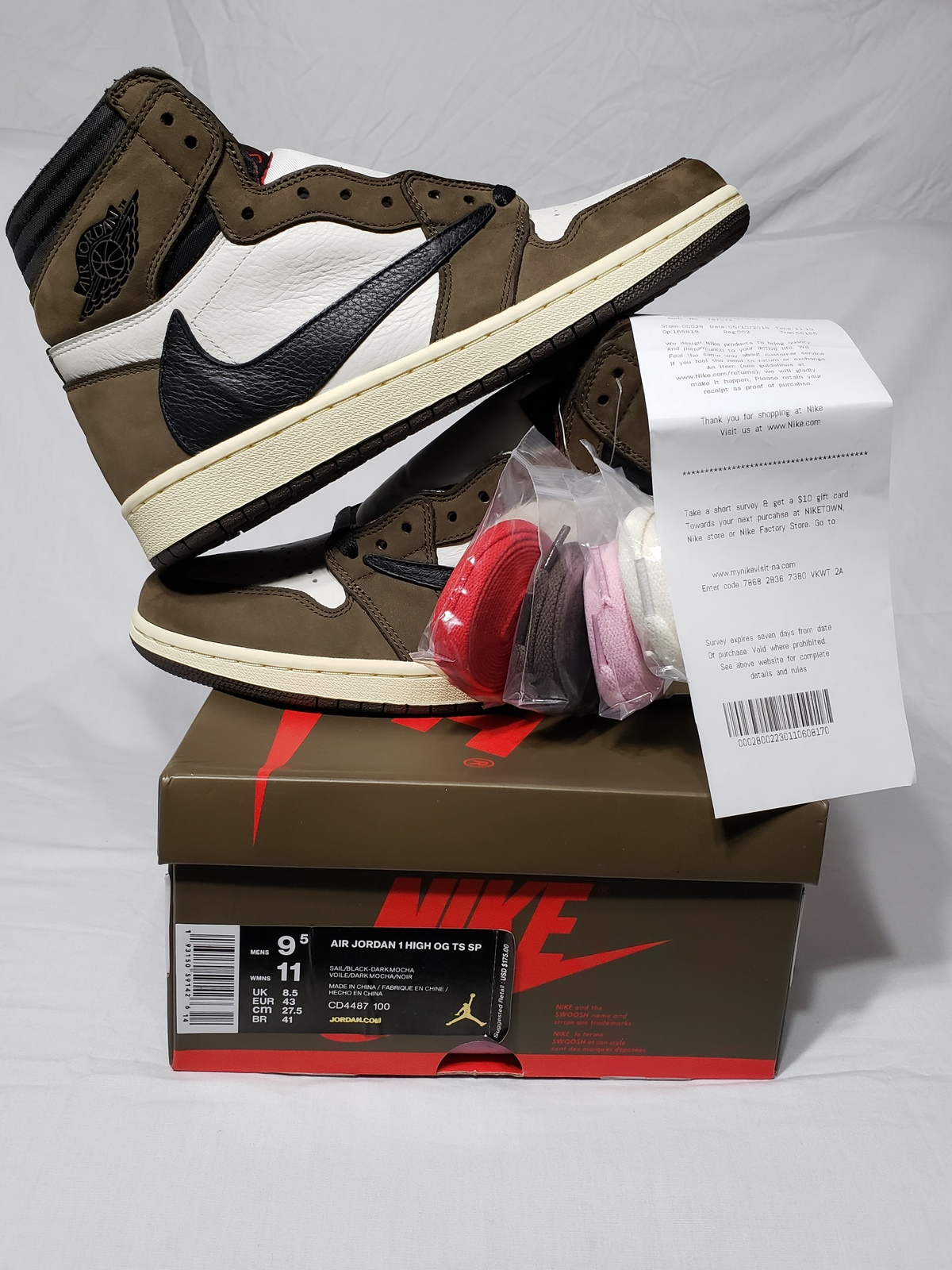 sale exquisite style fashion styles Jordan 1 Retro High Travis Scott Size:9.5 and 50 similar items