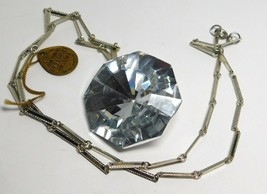 Large Swarovski Multi Faceted Pendant Necklace with Swarovski Tag - $38.69