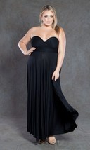 SWAK Designs Sexy Black Eternity Wrap Maxi Dress, Versatile Party Festiv... - $84.90