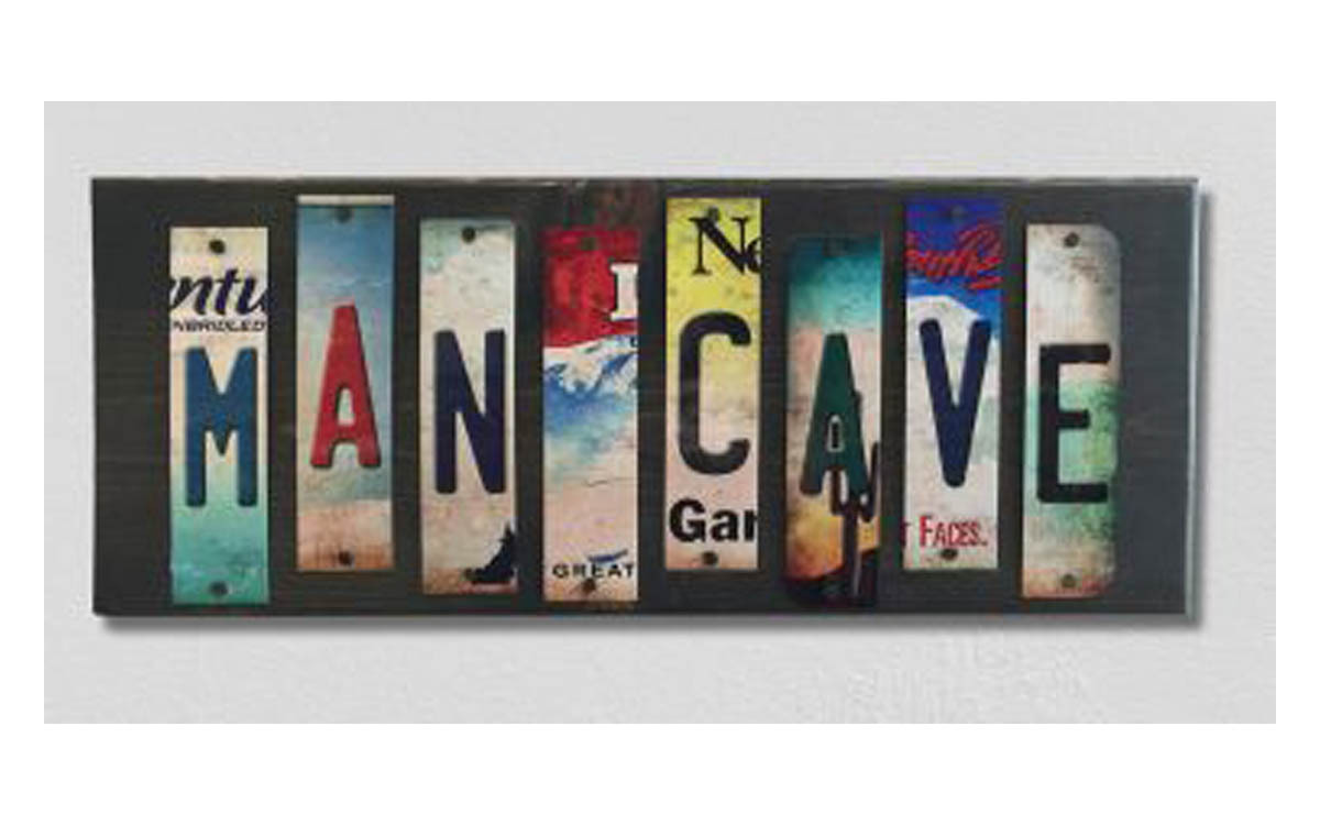 Man Cave License Plate Strip Novelty Wood Sign WS-004 - $50.15