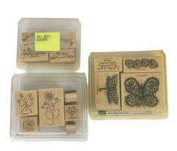 Stampin Up Merci, Itty Bitty Borders, & Something Marvelous Sets Rubber ... - $9.89