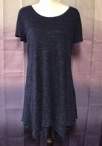 Style & Co. Asymmetricl Dress, Medium, Blue, Short Sleeve, Polyester Blend - $24.99