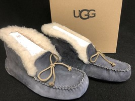 UGG Australia ALENA Nightfall SHEEPSKIN CUFF MOCCASIN SLIPPERS 1004806 womens image 2