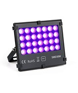 UV LED Black Light Flood Light, 30W UltraViolet Outdoor Flood Light, IP6... - $33.83