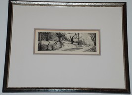 California Etching of a Country Road Signed GMS 83 - $22.77