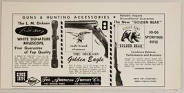 1967 Print Ad Dickson White Signature Riflescope & Golden Eagle Shotguns Taico - $10.87
