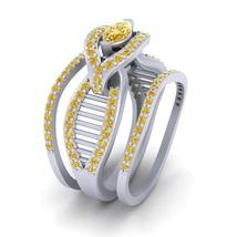 Matching Wedding Ring Set For Womens Mesh Design 3Pc Bridal Set Anniversary Gift - $2,689.99