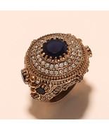 Ceylon Blue Sapphire Gemstone 925 Sterling Silver Vintage Old Ring Fine ... - $30.14