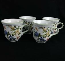 4 Mikasa Heritage Imari Bouquet Coffee Cups Oven To Table Dinnerware F20... - $18.66