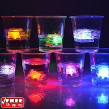 LED Light Ice Cube Luminous Glowing Cubes Lights Party Decorations 12 pc... - $18.70