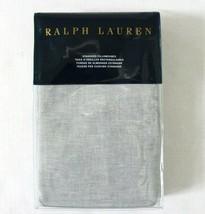 """RALPH LAUREN BLUE LABEL """"CARY"""" STANDARD PILLOWCASE SOLID GREY LINEN/COTT... - $59.70"""