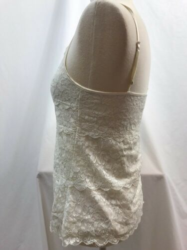 Express Off White Lace Lined Cami, Ladies Size Small