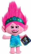 Dreamworks Trolls World Tour Poppy Plush 8 Doll With Blue/Green Dress & Headband - $12.47