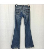 7 For All Mankind Womens Jeans Flare Leg Cotton Stretch Heavy Distress S... - $24.05
