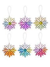 "Ganz Multi-Colored Jewel Flowers - Set of 6 Flowers, 4.75"" - $55.95"