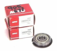 LOT OF 2 NIB MRC 200SFFG BALL BEARINGS 10MM X 30MM X 9MM W/ SNAP RING